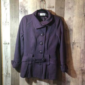 Jackets & Blazers - Trf purple peacoat